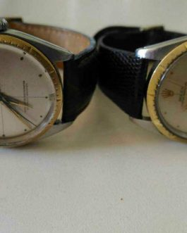 Lot of 2 Rare Authentic Solid 18K gold Winding Mens Watch